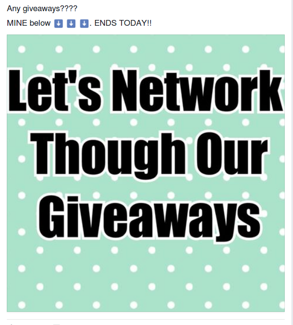Networking through giveaways